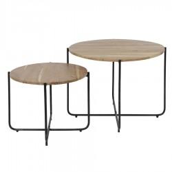 Lot de 2 tables basses EVIN