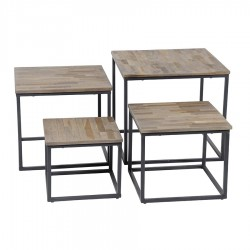 Lot de 4 tables basses LUDNA