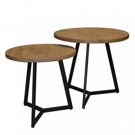 Lot de 2 tables d'appoint LUIDI