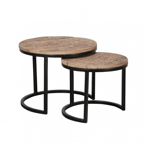Lot de 2 tables d'appoint LOVO