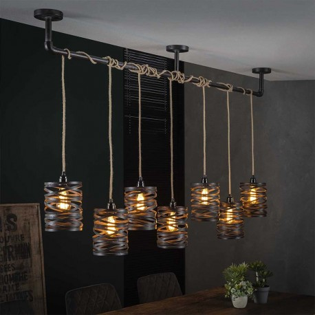 Suspension 7 lampes ODAX