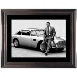 Tableau moderne James Bond D.Craig 74x94 cm
