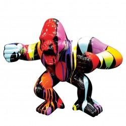 Objet déco statue Gorille trash noir H.47 cm