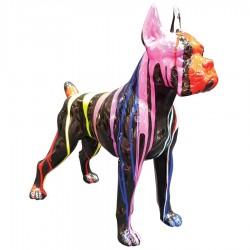 Objet déco statue Dogue trash noir H.47 cm