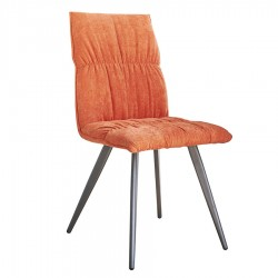 Chaise ZOE orange mandarine