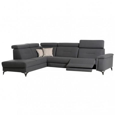Canapé d'angle AURORE 2 relax électriques