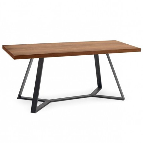 "Table rectangulaire ""ARCHY"" largeur 240 cm plateau noyer"