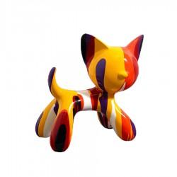 """Sculpture chat MIKADO"""" H.27 cm"""""""