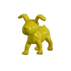 "Chien OSCAR"" jaune H.15 cm"""