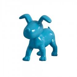 "Chien OSCAR"" bleu H.15 cm"""
