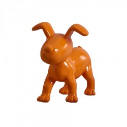 "Chien OSCAR"" orange H.15 cm"""