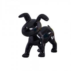 Chien OSCAR noir H.15 cm