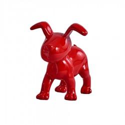 Chien OSCAR rouge H.15 cm