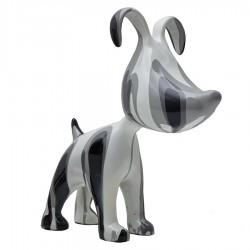 """Sculpture chien MILKA"""" gris H.38 cm"""""""
