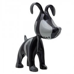 """Sculpture chien MILKA"""" noir H.38 cm"""""""