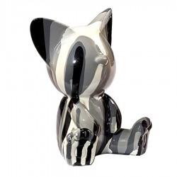 Sculpture chat ILEO noir H.12 cm