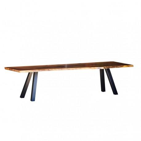 """Table """"NOISETTE"""" en noyer massif"""