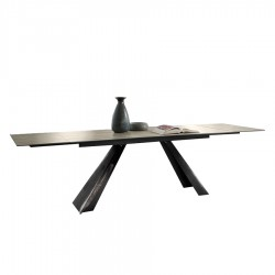 Table extensible « ALICE » plateau céramique gris cemento