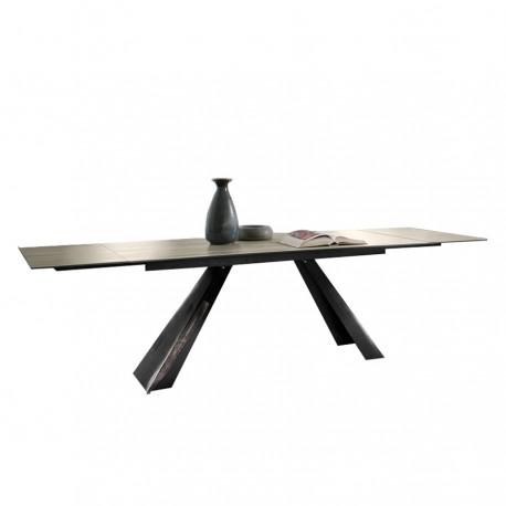Table extensible « ALICE » plateau céramique gris cemento