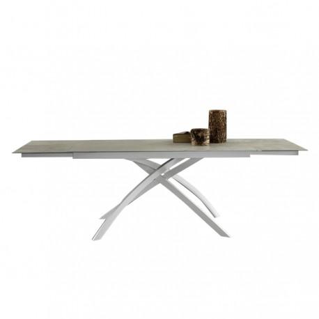 Table extensible « CLARISSE » céramique gris ciment