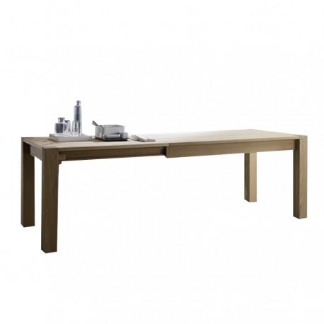 Table avec rallonges « CASSINO » finition naturelle