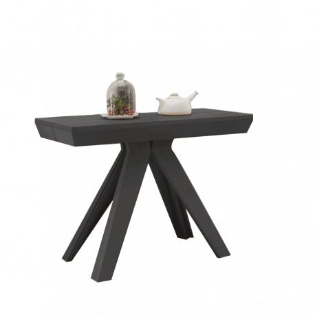 "Table-console extensible ""TURIN"" anthracite"