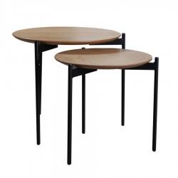 Lot de 2 tables basses DEMETER