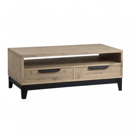 Table basse 2 tiroirs « FACTORY » largeur 120 cm