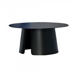 "Table basse ""ROUND"" Ø 80 cm anthracite"