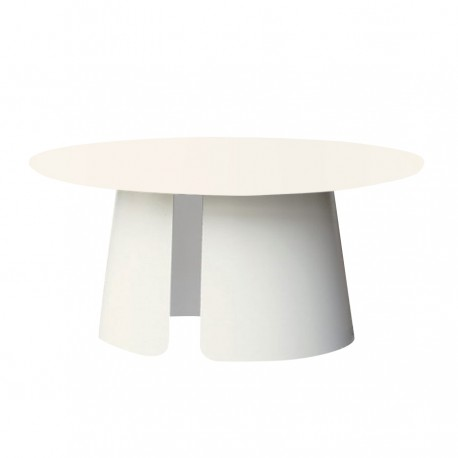 "Table basse ""ROUND"" Ø 80 cm blanche"