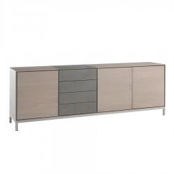 "Enfilade 3 portes 4 tiroirs avec céramique ""MODENA"""