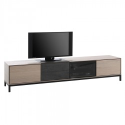 """Meuble TV 3 portes 2 tiroirs 1 avec céramique """"MODENA"""""""
