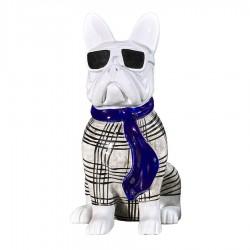 Sculpture chien OSWALD H. 20 cm