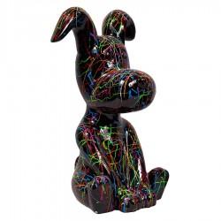 Sculpture chien SCRATCH assis H 45 cm