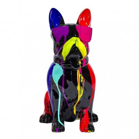 Objet déco statue chien RODAN H. 37 cm