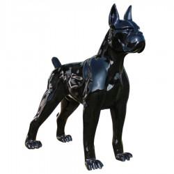 Objet déco statue Dogue noir H.47 cm