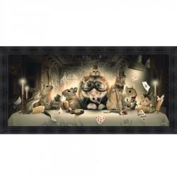 Tableau moderne Sylvain BINET La Cene 76x153 cm