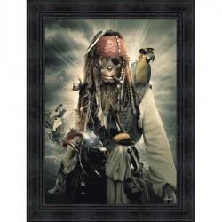 Tableau moderne Sylvain BINET Monkey Sparrow 63x83 cm