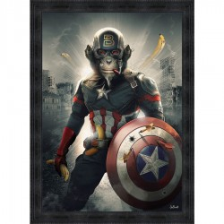 Tableau moderne Sylvain BINET Captain América 93x133 cm