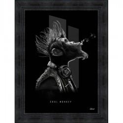Tableau moderne Sylvain BINET Cool monkey 63x83 cm