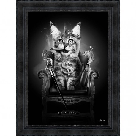 Tableau moderne Sylvain BINET Sofa King 63x83 cm