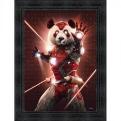 Tableau moderne Sylvain BINET Iron Panda 63x83 cm