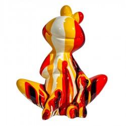 Objet déco statue grenouille ROSINA H. 50 cm