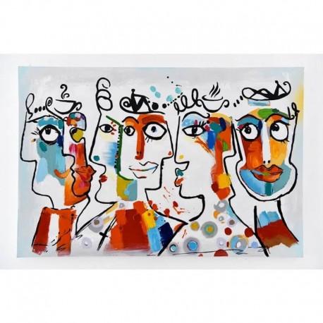"""Tableau visages """"FACES"""" 80X120 cm"""