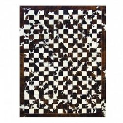 """Tapis """"DAMIER"""" vache avec contour 160x220 cm"""