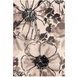 """Tapis """"PAPAVERO"""" 160x230 cm noir et blanc"""