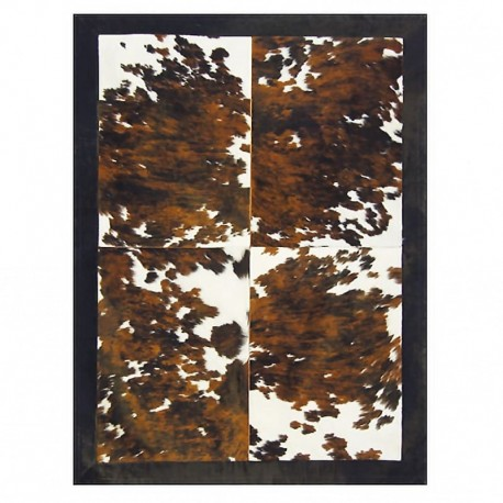 "Tapis 4 rectangles ""VACA"" avec contour 160x220 cm"