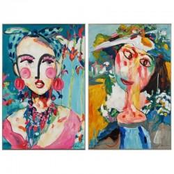 """Set de 2 tableaux """"MERCEDES"""" 60x90 cm"""