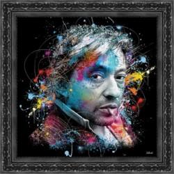 Tableau moderne Sylvain BINET Gainsbourg 49x49 cm