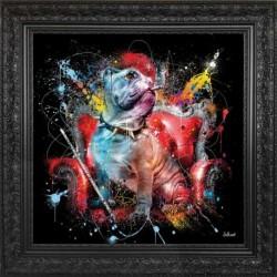 Tableau moderne Sylvain BINET Bulldog Anglais 49x49 cm